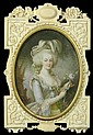 François Dumont French (1751-1831) Miniature Watercolor and Gouache on Ivory