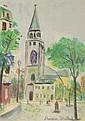Maurice Utrillo, French (1883-1955) Circa 1955 Color Lithograph