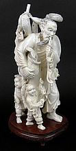 Impressive and Heavy 20th Century Chinese Carved Ivory Group