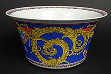 New in Box Versace for Rosenthal Painted and Gilt Porcelain Bowl in the