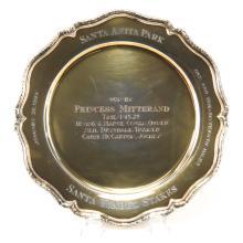 Tiffany & Co. Vermeil Sterling Silver Trophy Plate