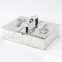 Antique English Silver Handled Cigar/Cigarette Box