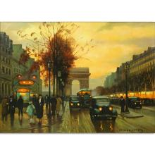 After: Edouard L?on Cort?s, French (1882-1969) Oil on Canvas, Champs-쳌lys?es, Paris