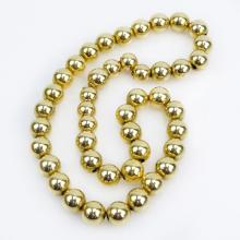 Vintage 14 Karat Yellow Gold Graduated Bead Necklace