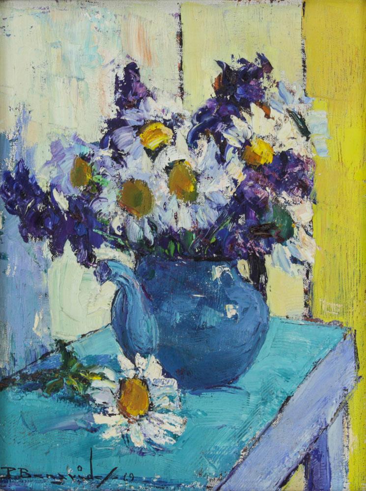 Pablo Benavides, Spanish (1910-2007) Oil on Canvas