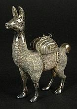 Vintage Sterling Silver Llama Figurine. Signed 925. Good Condition. Measures 2-3/4 Inches Tall Weighs 3.51 Troy Ounces. Shipping $42.00