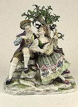 Vintage Dresden Porcelain Figural Group.