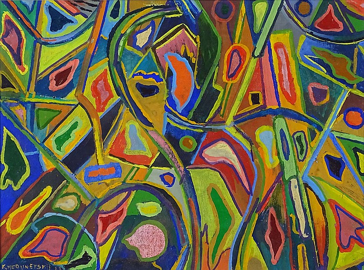 Kazimir Kostantinovich Medunetsky, Russian (1899-1936) Oil on Canvasboard