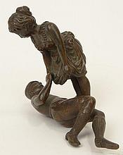 19th Century Austrian Vienna Miniature Bronze Sculpture