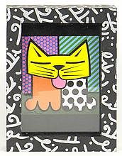 Romero Britto Brazilian-American-Florida (born1965-) Circa 1996 Limited Edition Graffiti Painted