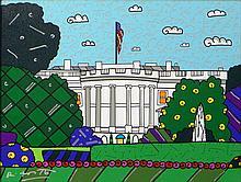 Romero Britto Brazilian-American-Florida (born1965-) Circa 2009 Limited Edition Mixed Media Giclee on Canvas