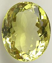 Large Approximately 120 Carat Oval Cut Citrine. Unmounted. Measures Approximately 1-3/8 Inches by 1-1/8 Inches. Shipping $28.00