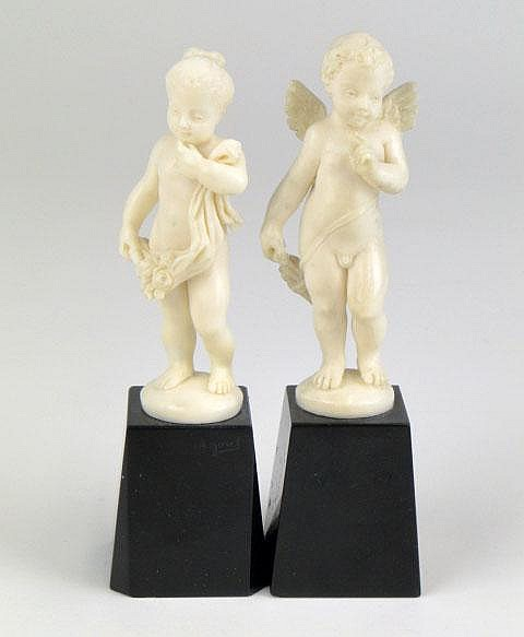 Alfred Jorel French (c.1860-1927) Pair of Ivory Sculptures