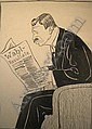 Rudolf Herrmann German (1874-1964) Pen and Ink on Heavy Stock