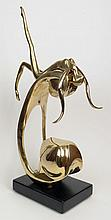 Georges Charpentier French, (1937-) Polished Bronze Abstract Figure of a