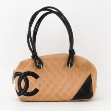 Chanel Linge Cambon Quilted Leather Bowler Bag