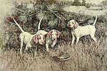 20th century color lithograph,