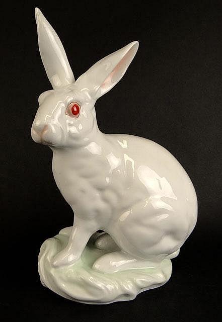 Large Herend Blanc de Chine Porcelain Figural Group