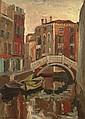 Signed Mid 20th Century Post Impressionist Style Oil on Masonite
