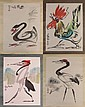 Four (4) 20th Century Chinese School Ink and Color on Paper Three (3)