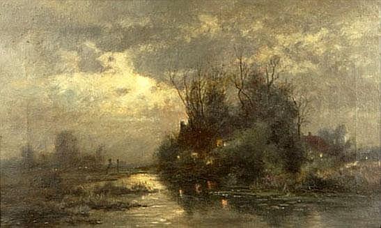 Ferdinand De Prins Belgian (1859-1908) Oil on Canvas
