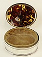 Early 20th Century London, England Mappin and Webb Sterling Silver and Tortoise Shell Vanity Box with Hinged Lid. Circa 1912. Signed with Hallmarks Under Base and again Lower Half and Stamped Mappin and Webb Under Base. Overall Good to Very Good
