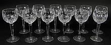 Twelve (12) Waterford Cut Crystal Wine Hock Glasses in the