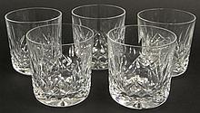 Five (5) Waterford Cut Crystal Old Fashioned in the