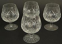Four (4) Waterford Cut Crystal Brandy Snifters in the