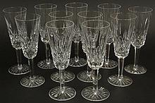 Eleven (11) Waterford Cut Crystal Champagne Flutes in the