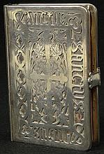 Rare and Important Early 20th Century American Gorham Sterling Silver Prayer Book Cover. Engraved to Back