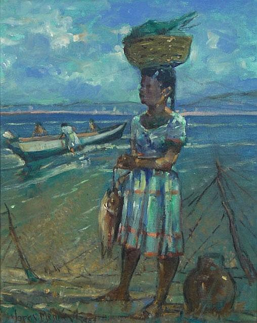 Luis Alfredo Lopez Mendez Venezuelan (1901-1996) Oil on Canvas