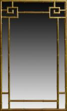 Mid 20th century brass faux bamboo mirror
