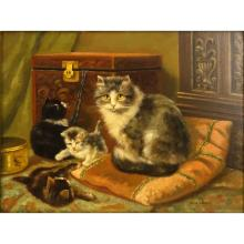 Jan van Doorn, Dutch (b. 1916) Oil on pane