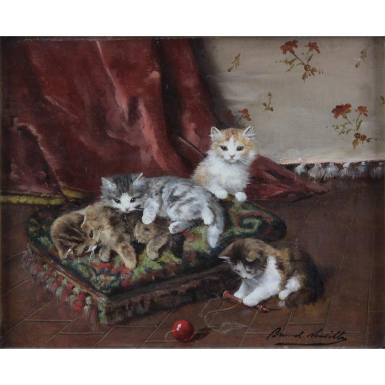 Alfred Arthur Brunel de Neuville, French (1852-1941) Oil on panel