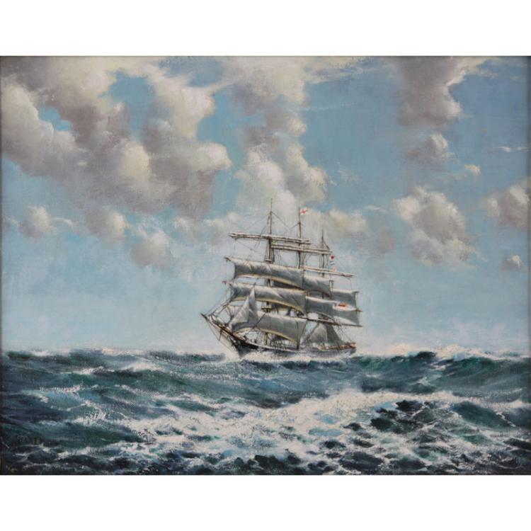 Arthur Royce Bradbury, British (1892-1977) Oil on canvas