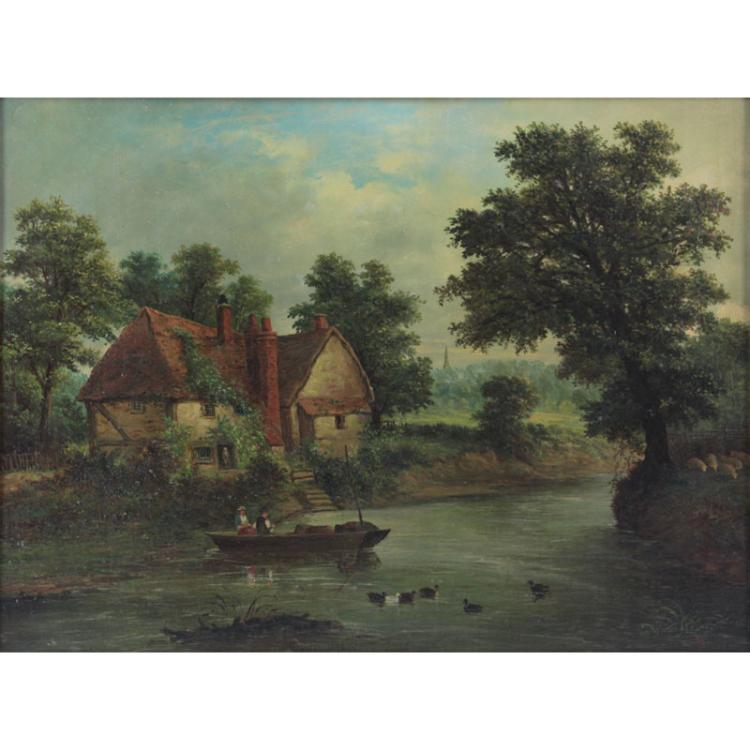 William A Stone, British (19th century) oil on canvas