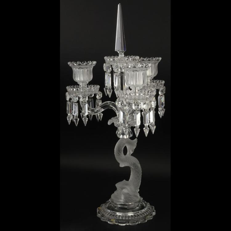 Baccarat Dauphin 3 Light-Candelabra
