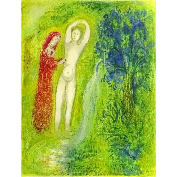 Marc Chagall, French/Russian (1887-1985) Color Lithograph on Arches Paper