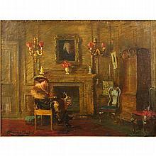 Albert Chevallier Tayler, British (1862-1925) Oil on canvas