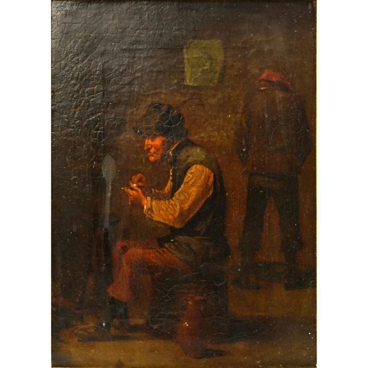 19th Century German School Oil On Canvas