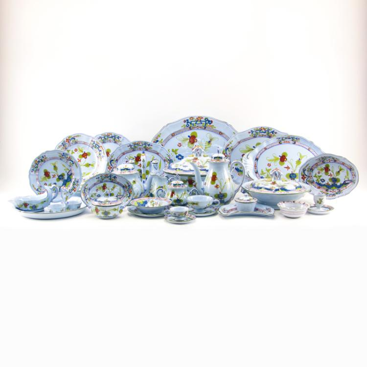 One Hundred Fifty-Eight (158) Piece Imola Italian Floral Hand Painted Cooperativa Cermica d'Imola Dinner Service