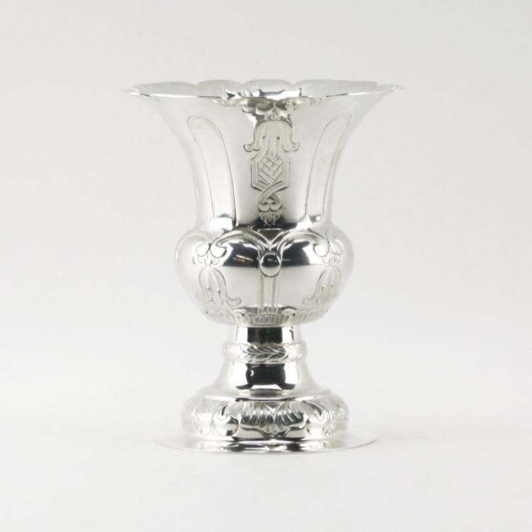 Fine European 835 Silver Vase