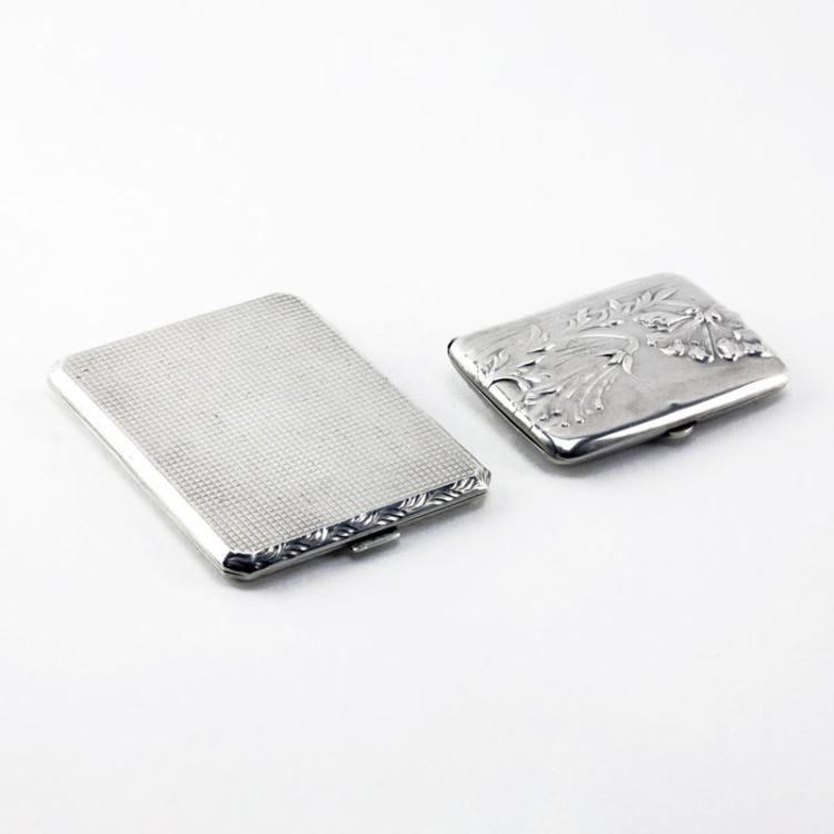 Grouping of Two (2) Sterling and Continental Silver Cases