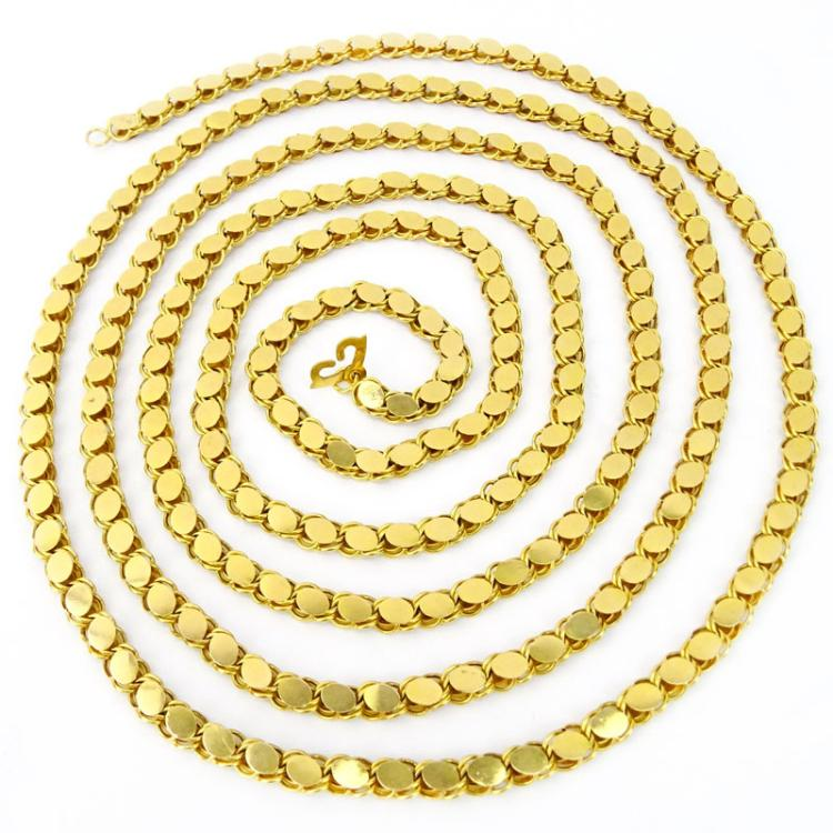 Vintage 18 Karat Yellow Gold 80