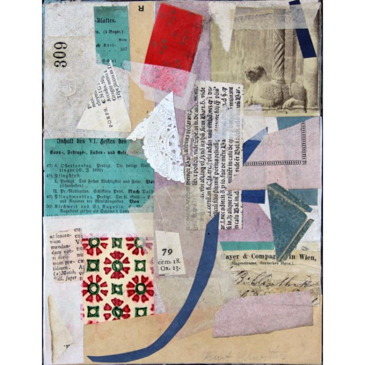 Kurt Schwitters, German (1887-1948) Collage on cardboard