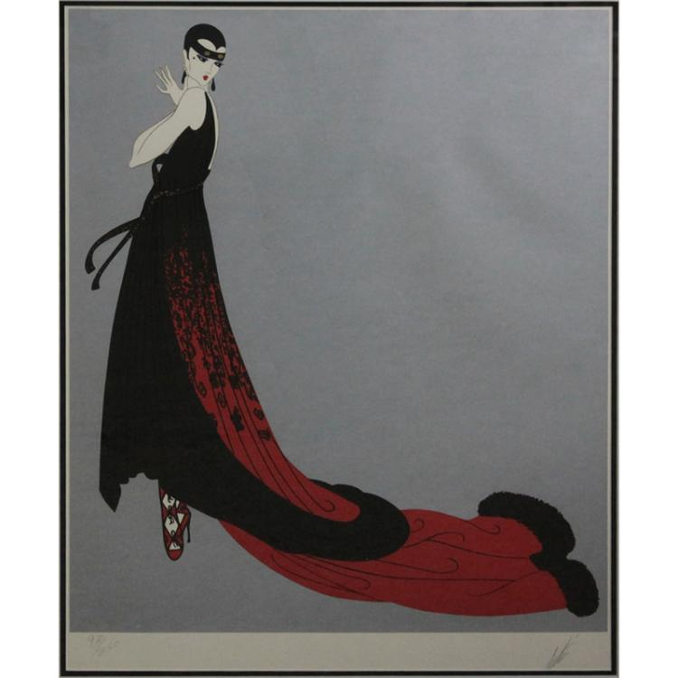 Erte Romain de Tirtoff , Russian/French (1892-1990) Color lithograph