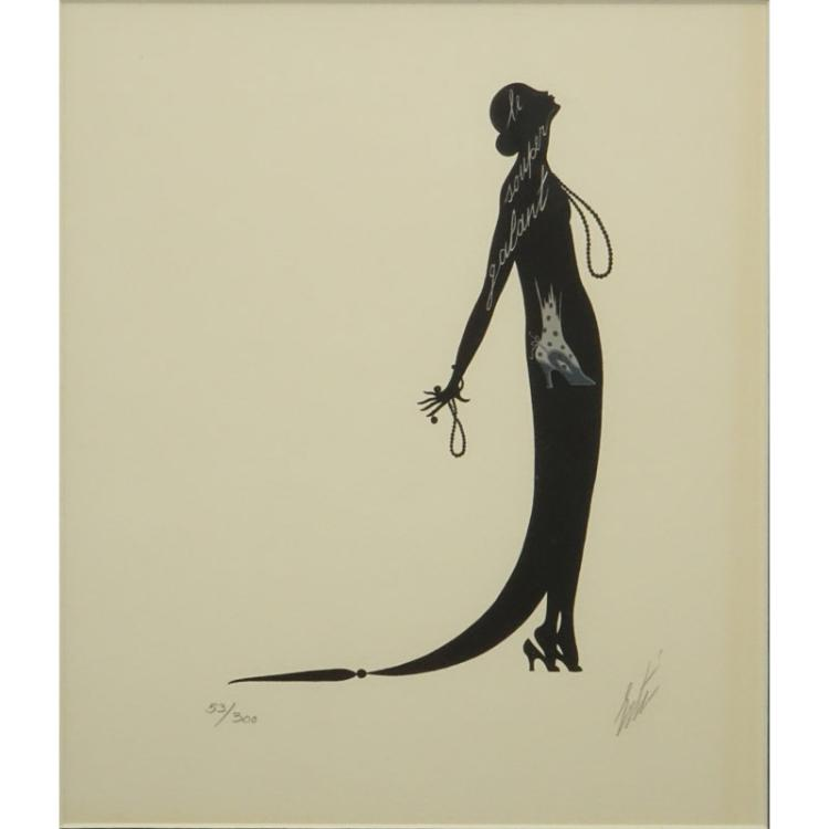 Erte Romain de Tirtoff , Russian/French (1892-1990) Lithograph