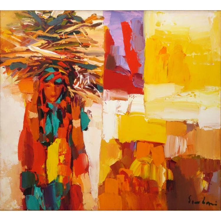 Nicola Simbari, Italian (1927-2012) Oil on canvas