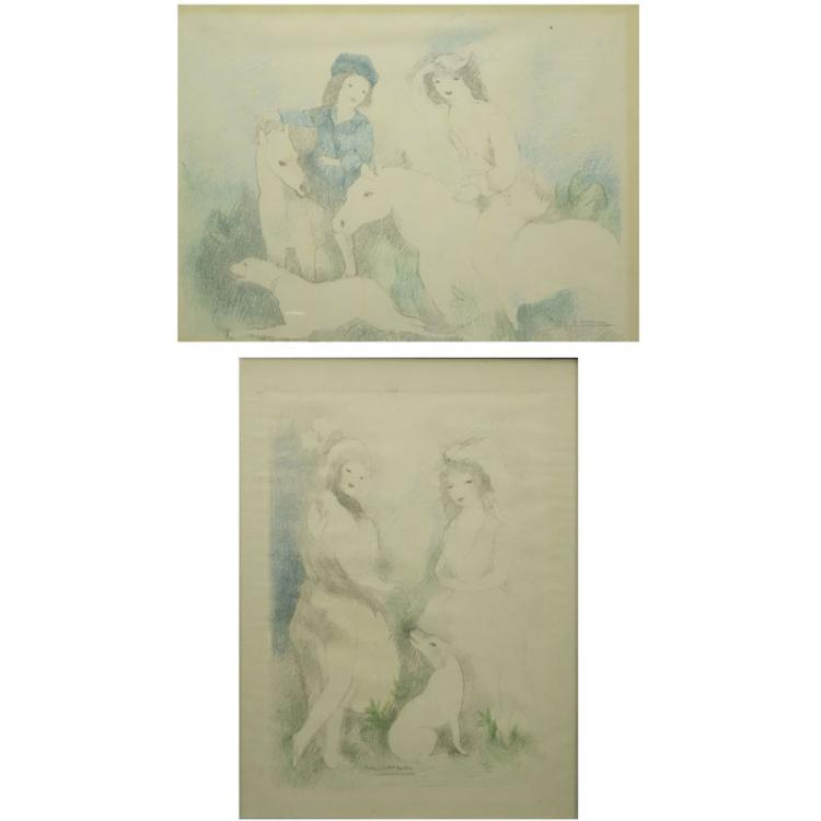 Marie Laurencin, French (1885-1956) 2 Color lithographs